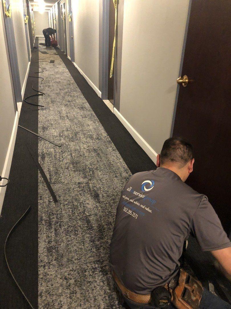 芝加哥办公室的地毯装置