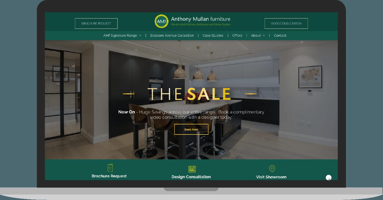 网站设计客户:Anthony Mullan家具