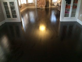 Black Hardwood Floor Job