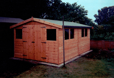 Large Shed Double Doors