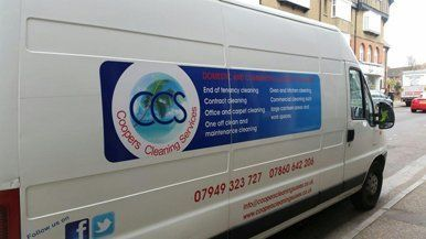 Coopers Cleaning Services' van