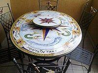 tavolo con gitatavolo
