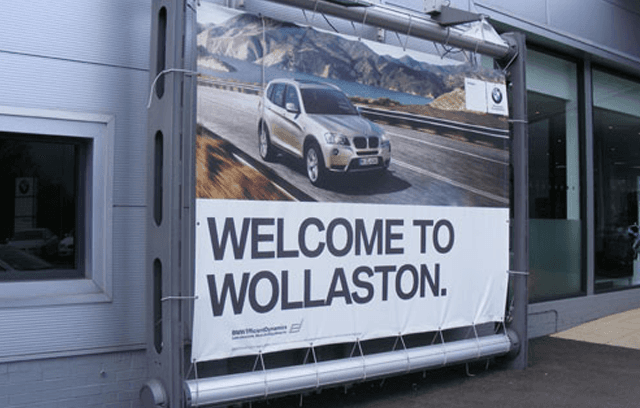 WELCOME TO WOLLASTON banner
