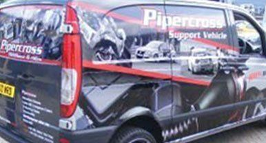 rear view of the car wrap