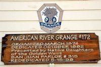 American River Grange plaque picture