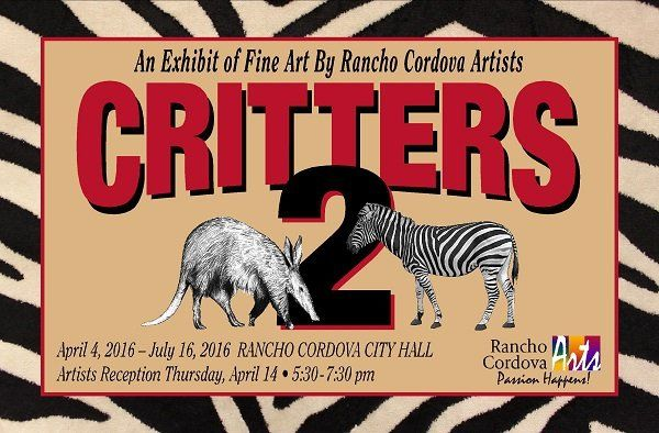 Rancho Cordova Arts Exhibit Critters Aardvark to Zebra image