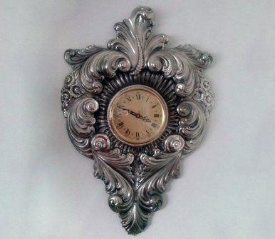 orologio da parete in argento
