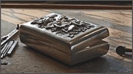 porta gioie in argento lavorato