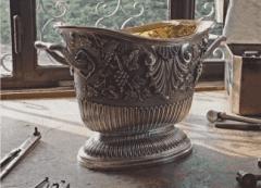 secchio per champagne in argento