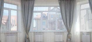 Tende e sopratende su vetrata