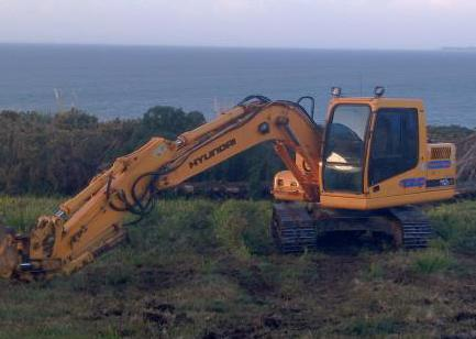 Earthmoving digger on-site in Whangarei