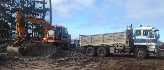 Earthmoving trucks