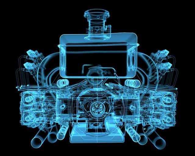ologramma di un motore