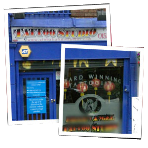 Custom Tattoo - Otterspool - Fallen Angel Tattoo Studio - tattoo studio facade