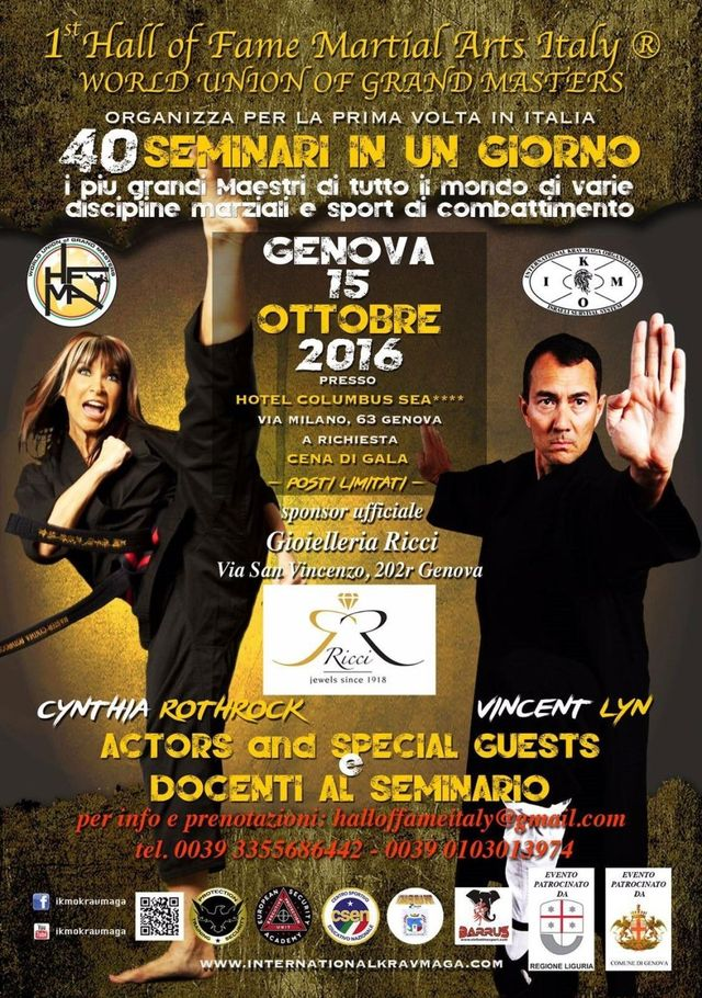 Evento - 1° Hall of fame Martial Arts Italy Genova