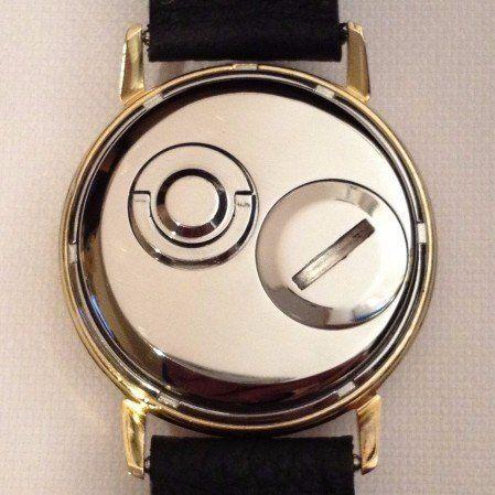 Slava Transistor watch back after restoration The Time Preserve