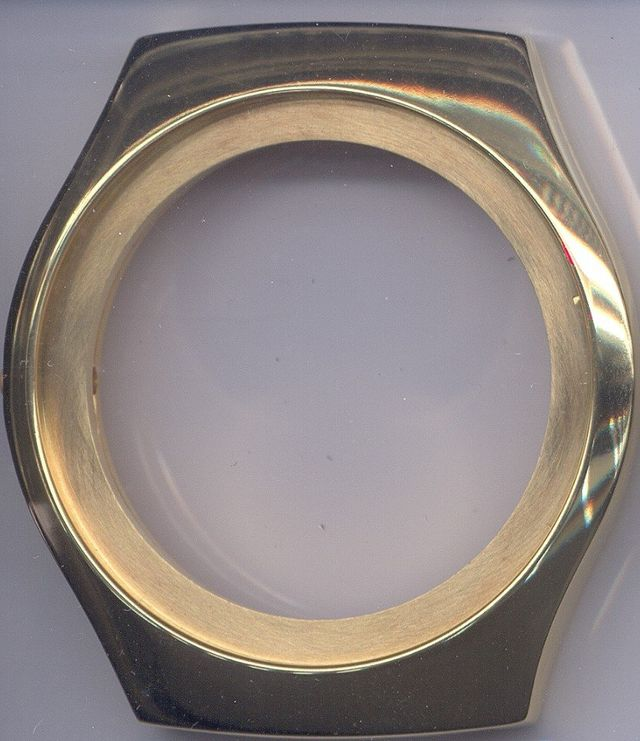 Omega f300 case after gold plating at the time preserve