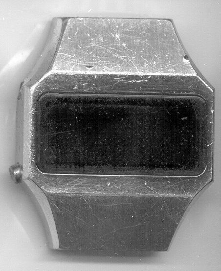LED watch before restoration at The Time Preserve