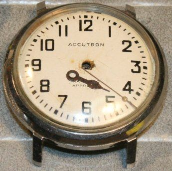 Accutron railroad watch before refinishing at the time preserve