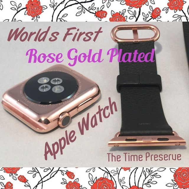 rose gold apple watch the time preserve
