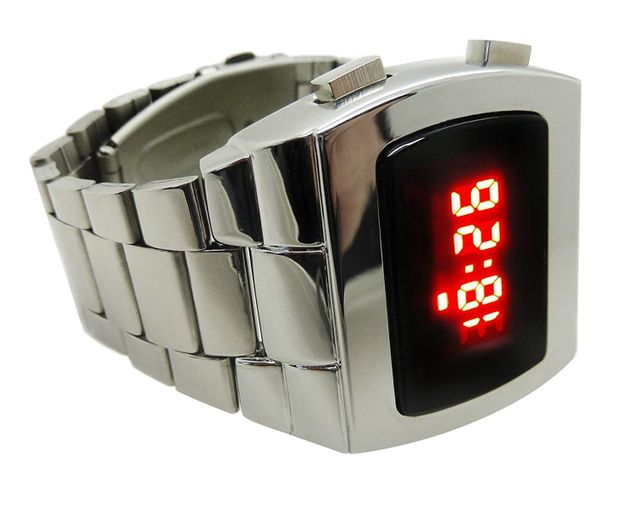 chrome plated LED watch The Time Preserve