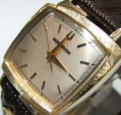 Bulova Accutron 214 14k TV watch with Florentine pattern The Time Preserve