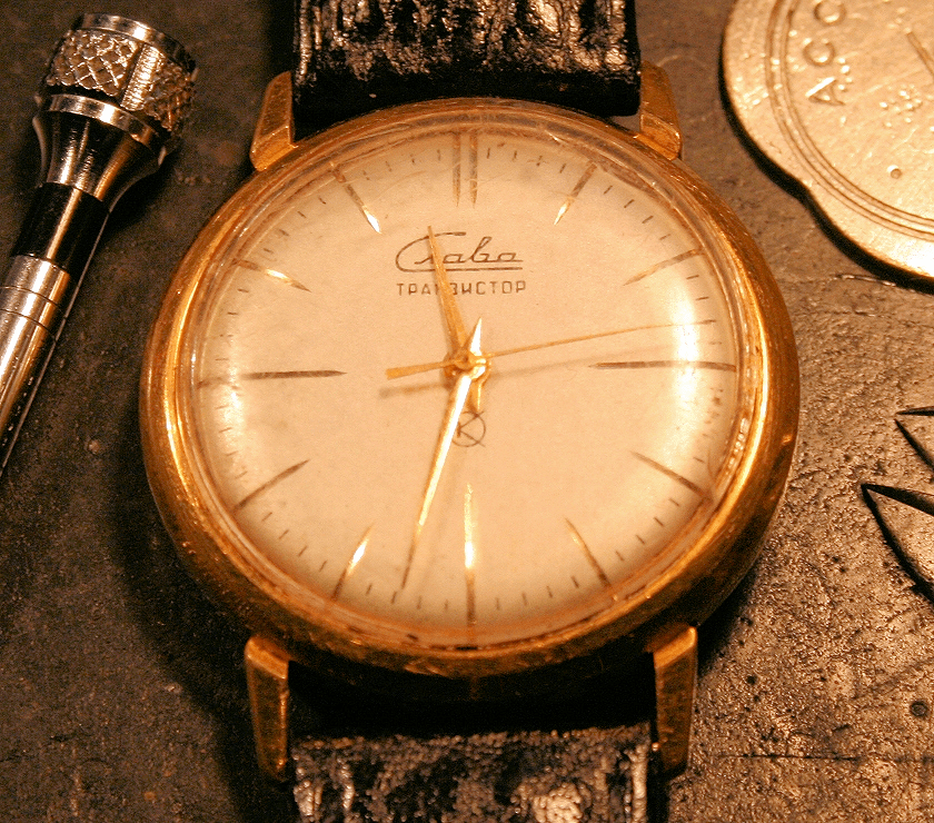 Slava Transistor watch before restoration The Time Preserve