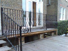 Security gates - Lewisham - Greenwich Forge Ltd - Deck railings