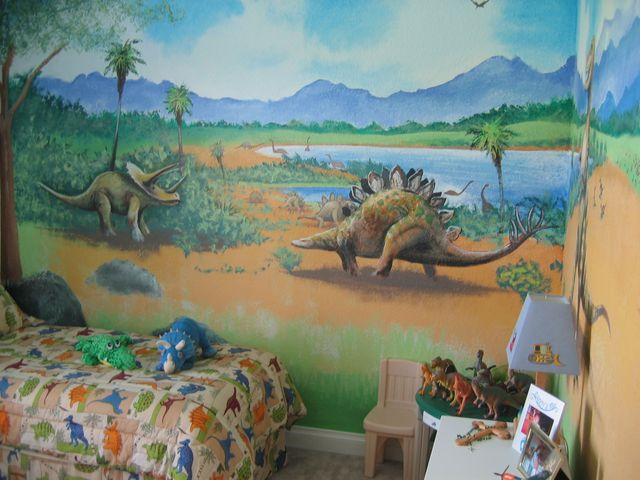 Wall murals for Dinosaur mural ideas