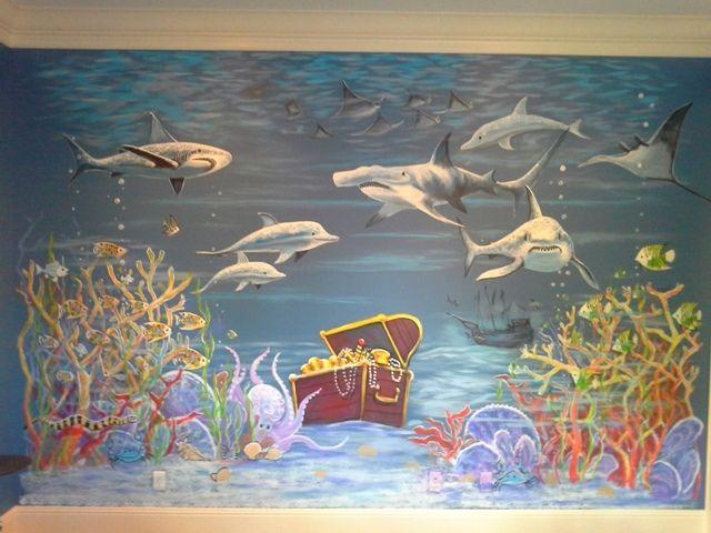 Sharks Wall Mural