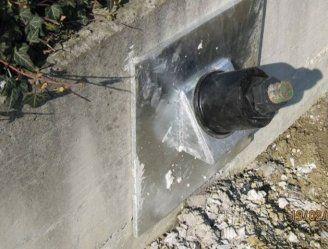 un tubo in uno scavo