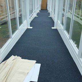 carpeted pathway