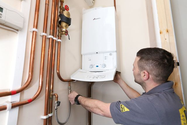An installed heating system