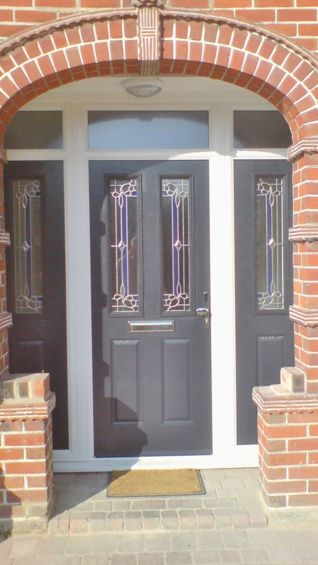 Doors manufactured and installed by classic home for Upvc french doors grey
