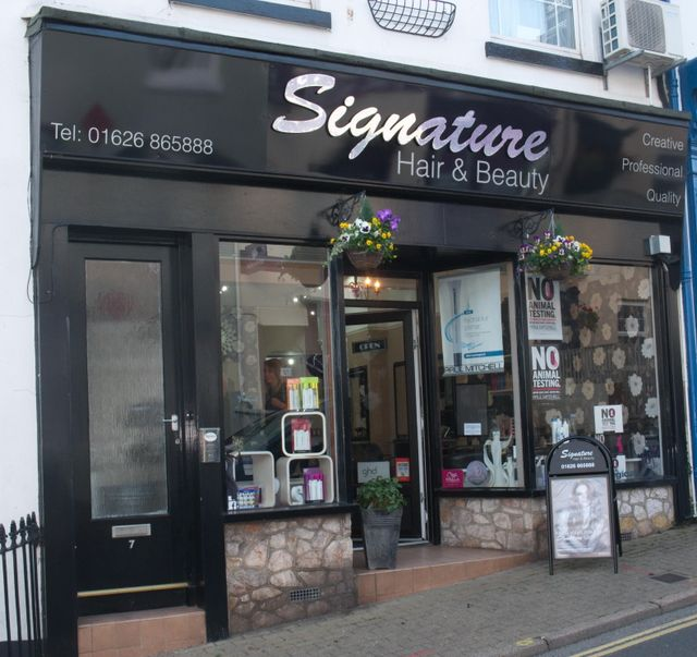 Beauty nails hairdressers in dawlish signature hair for Hair salon perfect first essential