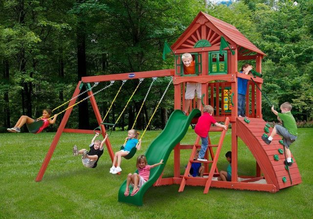 Cedar Playground Swing Slide Sets Coram Long Island Medford