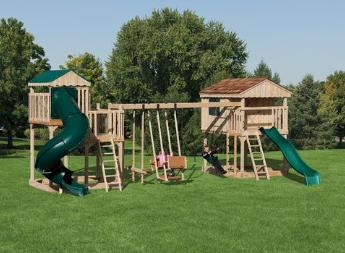 Amish Natural Wood Swing Sets Coram Long Island
