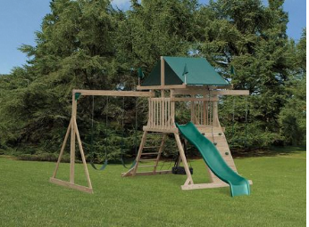 Amish Natural Wood Swing Sets Coram Long Island