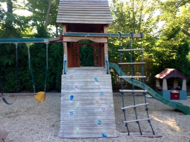 playground set before picture - Coram, Medford, Long Island NY - Wood Kingdom East