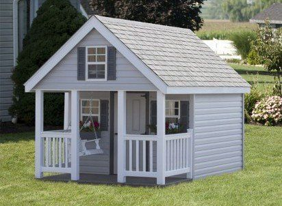 Elite playhouse with porch - Wood Kingdom East