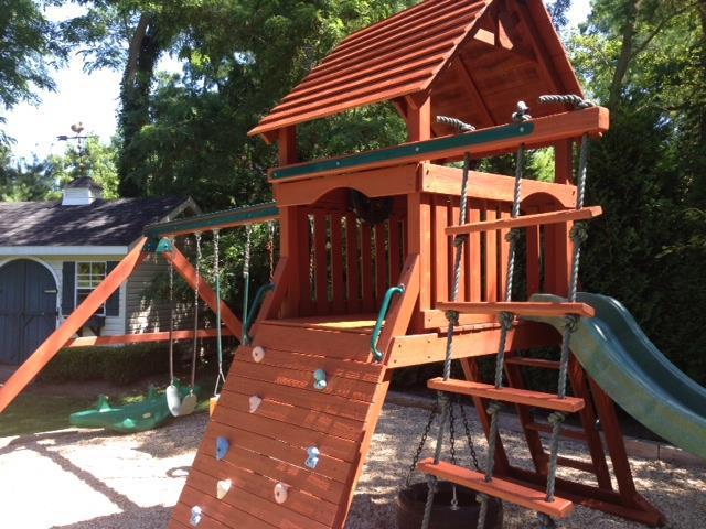 playground set after picture - Coram, Medford, Long Island NY - Wood Kingdom East