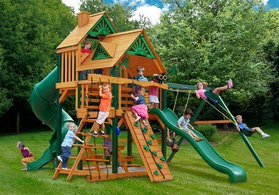 Grand Summit playground swing set - Wood Kingdom East - Coram, Long Island, Medford, The Hamptons NY