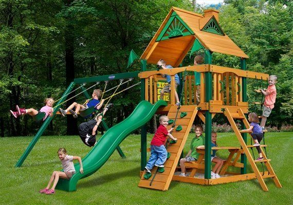 The Horizon playground swing set with wood roof - Wood Kingdom East - Coram, Long Island, Medford, The Hamptons NY