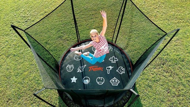 trampoline with safety net - Wood Kingdom East - Coram, Long Island, Medford, The Hamptons