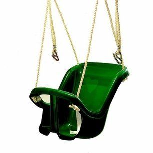 Molded High Back Baby Swing - Wood Kingdom East