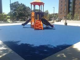 poured in place surface for playground swing sets - Wood Kingdom East