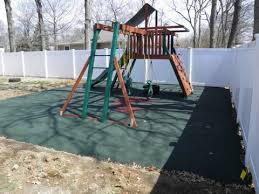poured in place rubber safety surfacing for playground swing sets - Wood Kingdom East