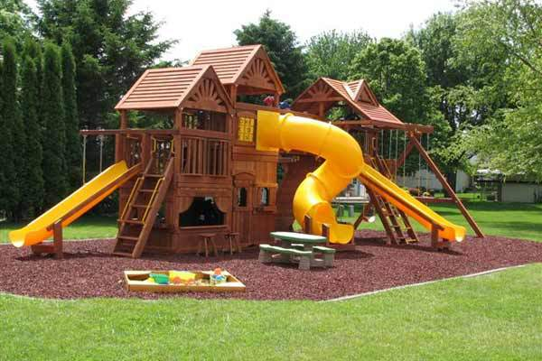 rubber mulch for playground swing sets - Wood Kingdom East