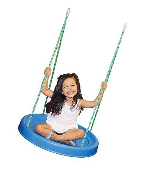 Saucer Swing with Rope - Wood Kingdom East