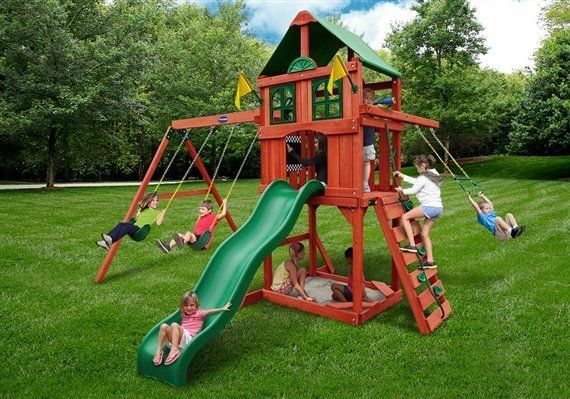 Sweetwater II Swing Set built by Wood Kingdom East - Coram, Long Island, Medford, The Hamptons NY